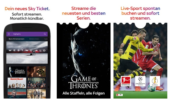Sky Ticket App Android